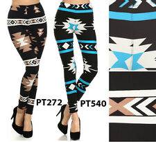 N21 HIGH WAISTED TREND AZTEC TRIBAL NAVAJO PRINT LEGGINGS Soft Quality Pants PT