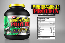 100% Whey Protein  Concentrate 5lb  Monster Muscle