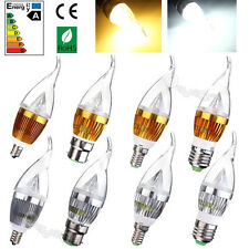 E12 E14 E27 B22 Dimmable 3W 6W 9W LED Bombilla Chandelier Candle Vela Light Bulb