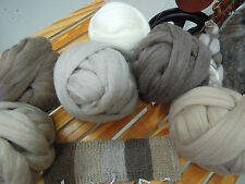 Natural coloured Melanian West Australian Wool Top Roving 200gm. Spin or Felt.