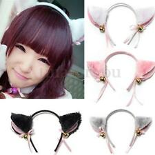 Cat Ears Headband Hairband with Bell Cosplay Halloween Party Fancy Dress Costume