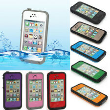 Colors Water Shock Snow Dirt Proof Case Cover For iPhone 4/4s+Film+Free shipping