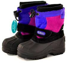 Winter Boots Totes Tess Todders Girls Black / Purple Snow Boots Waterproof NEW