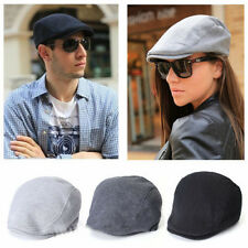 Unisex Vintage Newsboy Cabbie Gatsby Flat Ivy Cap Cotton Golf Driving Beret Hat