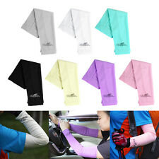 Womens Arm Sleeves  Warmers Sun UV Protection Cycling Running Golf Bike Bicycle