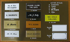 House Flat Door Name Plates Engraved Signs/Plaques New