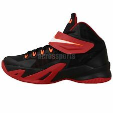 Nike Soldier VIII GS Black Red Lebron James 2014 Youth Kids Basketball Shoes
