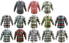 NWT MEN REGAL WEAR ABLANCHE 13 DIFFERENT COLORS OF PLIAD CHECK BUTTON UP SHIRTS