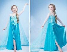 New FROZEN Princess Anna Elsa Queen Girl Cosplay Costume Party Formal Dress~