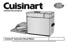 Cuisinart Bread Machine Manual CBK100A, CBK100C, CBK200, CBK200C, CBK200WS
