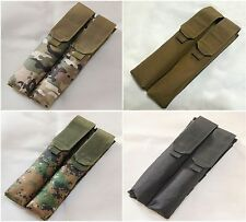 New Airsoft Molle P90/UMP Double Mag Pouch Black/Marpat/MC