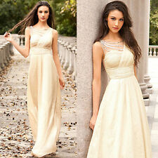 Fancy Women's Evening Gown Formal Prom Ball Cocktail Party Maxi Long Dresses New