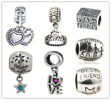 925 Sterling Silver Charms Bead Fashion Jewelry Fits European Charms Bracelet