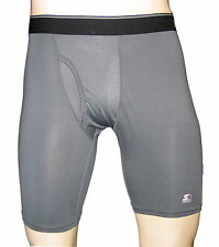 "Men's Sports boxer brief inseam 9""/compression underwear/Grey/#A"