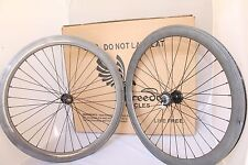 Freedom 700C Front, Rear, or Wheelset 50MM Fixie - Fixed Gear - Carbon Faced