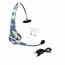Noise Reduction Wireless Bluetooth Earphone Headset Microphone for PS3 PC Phones