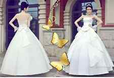 Korean Style Fashion Princess Bra Wedding Dresses Big Bow Wedding Dresses