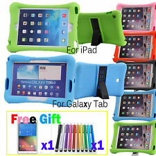 SHOCKPROOF speaker Rubber Silicone stand Case cover for Tablet iPad Galaxy Tab