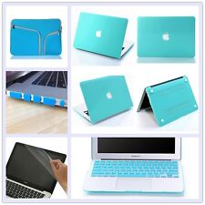 "5in1 Turquoise Anti-Scratch Matte Hard Case Cover for Macbook Air Pro 11"" 13 15"