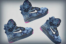 Mens Nike Air Command Force Pump Spurs 684715-002  Denim Wash Black/White/Pink