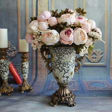 Party Wedding Christmas Floral Peony European style Rose Silk Flowers Home Decor