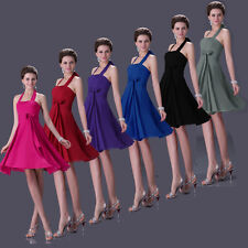 STOCK CLEARANCE Short Evening Party Gowns Prom Bridesmaid Cocktail WEDDING Dress