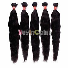 "10""12"" 18""20""24"" 26""100% Brazilian Virgin Remy Human Hair Extension Natural Wave"