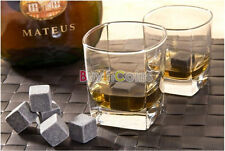 Bar Home Drinking Cold Glacier Rocks Cube Bulk Cool Ice Wine Whiskey Stones RSCA