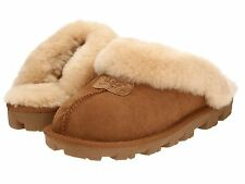 Women's Shoes UGG Australia Coquette Sheepskin Slippers 5125 Chestnut *New*