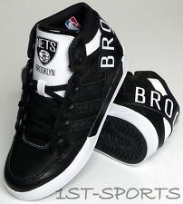 ADIDAS ORIGINALS KIDS TRAINERS, SHOES, HARD COURT HI BIG LOGO BROOKLYN BLACK