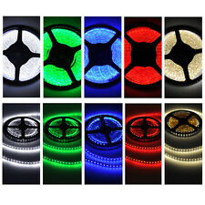 5M 12V IP65/20 600 LED Strip Light 3528 SMD String Ribbon Tape Roll 5 Colors