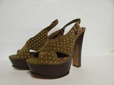 Jessica Simpson Kingston Studded Platform Sandal 8 M Aged Bronze New with Box