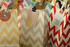 crafty flat bottom CHEVRON Paper Bags party favour giveaway sweets treat bag 12p