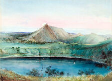 Blue Lake Mount Gambier by George French Angas