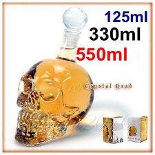 8 Size Crystal Skull Head Vodka Whiskey Shot Glass Bottle Drinking Bar Decanter