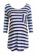 Blue Striped Maternity Top size 10-12, 14-16, 18-20, 22-24, 26-28 inc plus size