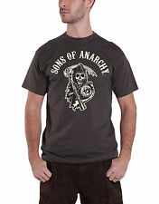 Sons of Anarchy logo with Reaper Official Mens New Charcoal T Shirt