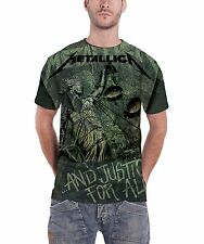 Metallica Justice for all  Neon Official Mens New Grey All Over Print T Shirt