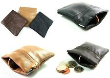 MENS LADIES HIGH QUALITY GENUINE LEATHER COIN POUCH CREDIT CARD PURSE WALLET