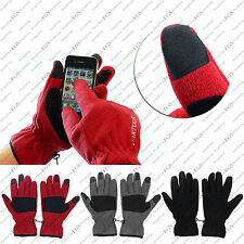 Fleece Smart Touch Screen Magic Gloves Black Red Grey iphone ipad phone tech LOT