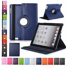 360° Rotating Leather Case Smart Cover Swivel Stand For Apple iPad 2 3 4/Pro