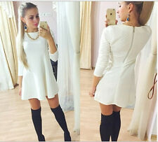 2015 Spring Summer Dress Sexy Solid A-Line Dresses Women Clothing Casual Dress