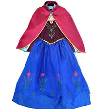 For Frozen Anna Princess Kids Party Costume Fancy Dress Up Dresses &Cape Gift