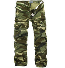 Mens Army Military Camouflage Pants Casual Cargo Pants Combat Work Pants Trouser