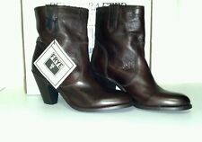 New in Box Women's Frye Mustang Stitch Short Boot ,Dark Brown, style 76948