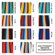 Southwestern Serape Placemat Pair 2 Set Mexican Striped Fiesta Table New 20x13""