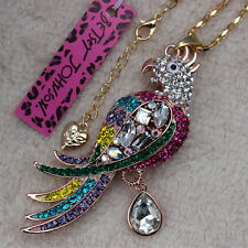 Betsey Johnson New Design Colorful Crystal beautiful parrot Necklace XL-119