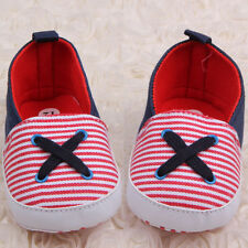 Nice Cute Infant Toddler Baby Boy Girl Soft Sole Crib Canvas Shoes Sneaker 0-18M