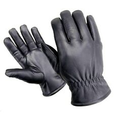 PREMIUM LEATHER WINTER MOTORCYCLE DRIVING THINSULATE LINED ELASTIC GLOVES - T1J