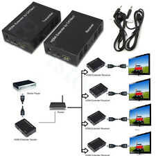 328ft/100M HDMI Extender Over TCP/IP Lan Switch Cat5e/6 + IR Repeater HDCP 1080P